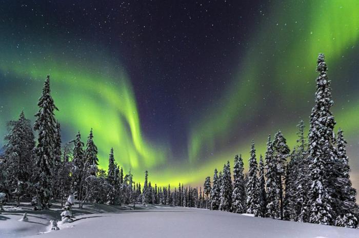 Nordlichter im Winter