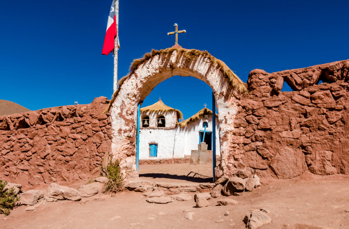 village de Machuca au cœur de la cordillère des Andes