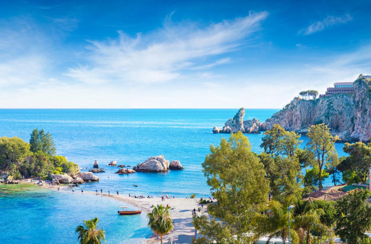 Isola Bella, petite île près de Taormina Sicile