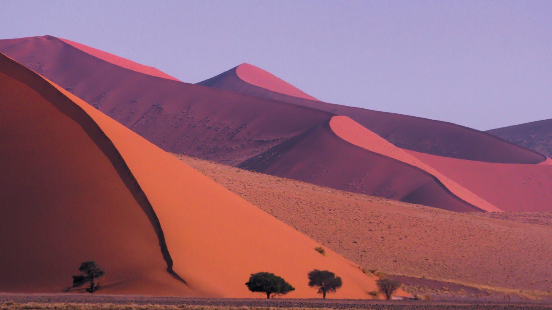 Voyage en groupe dans le désert de Sossuvlei en Namibie