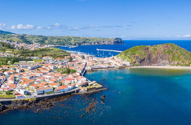 Visiter en groupe Horta sur l'ile de Faial aux Açores