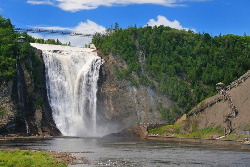 Chutes de Montmorency en voyage organisé au Québec en automne