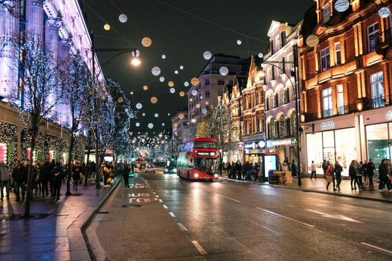 Oxford Street en voyage en groupe à Londres