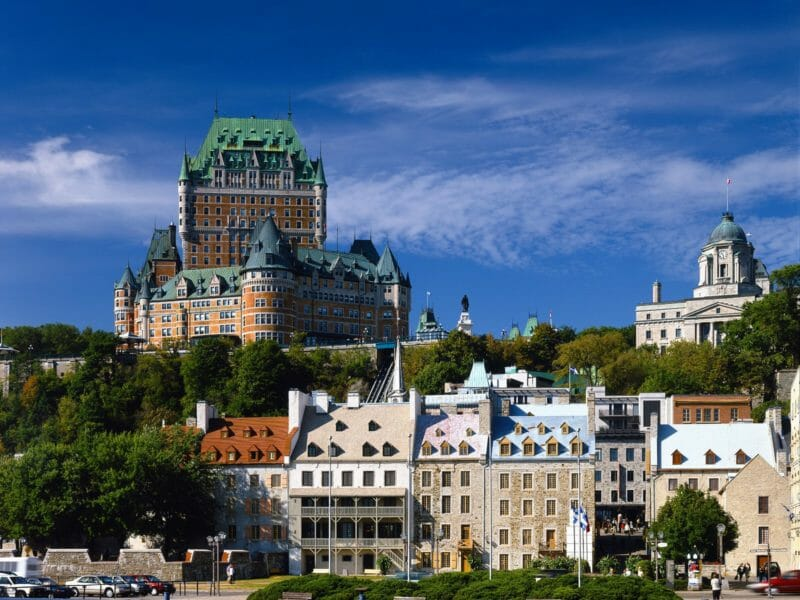 Chateau Frontenac en voyage organisé au Québec en automne