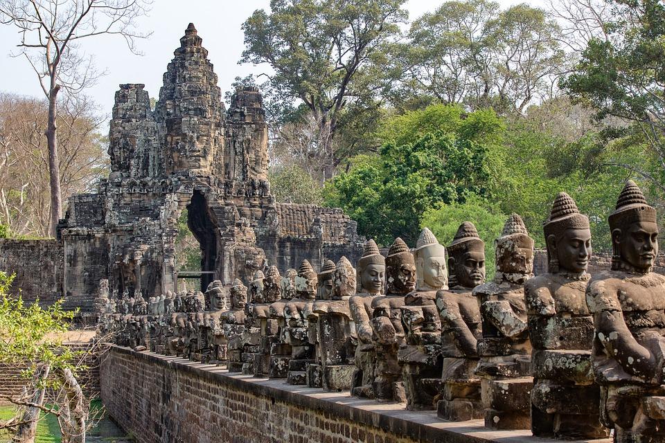 Visite d'Angkor Thom Cambodge