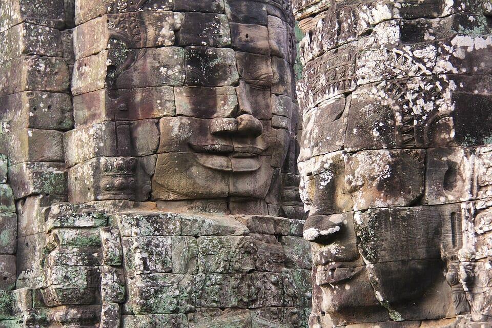 Visite en groupe de Bayon Cambodge
