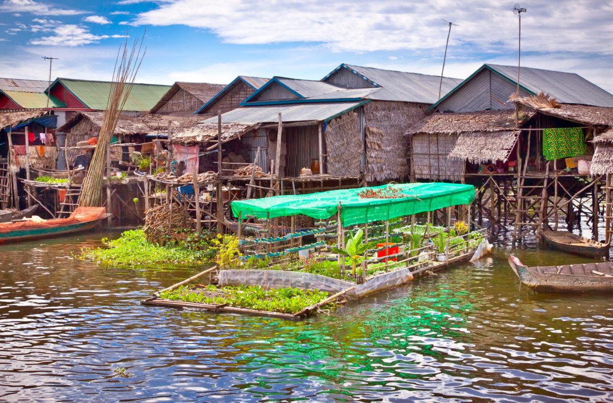 Village flottant Sud Vietnam et Cambodge