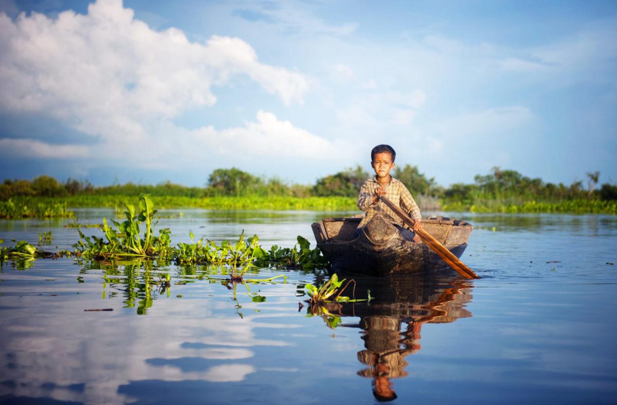 Lac dans le Sud Vietnam et Cambodge