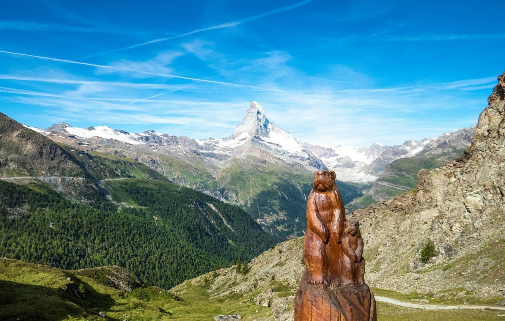 Randonnée en Suisse, le sentier des marmottes à Zermatt_photo On hoidays again