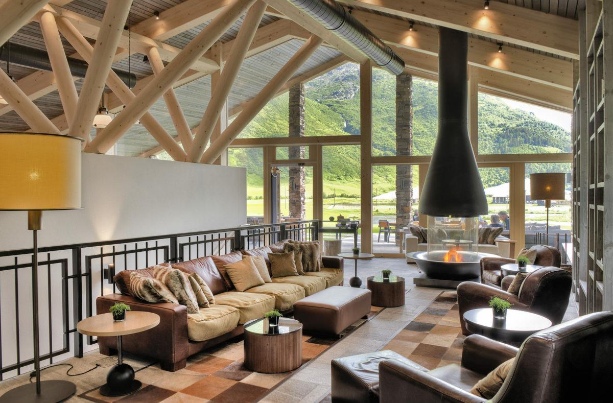 Clubhouse de l'Andermatt Swiss Alps Golf Course