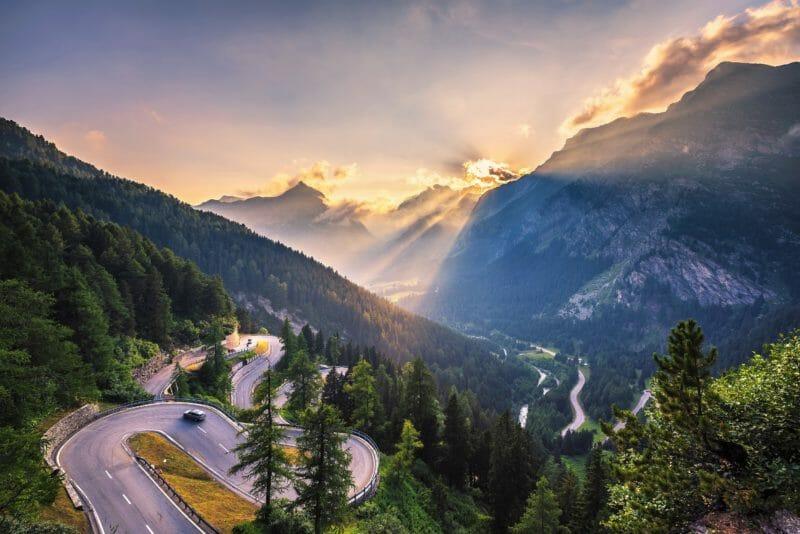 Col de Maloja route Suisse