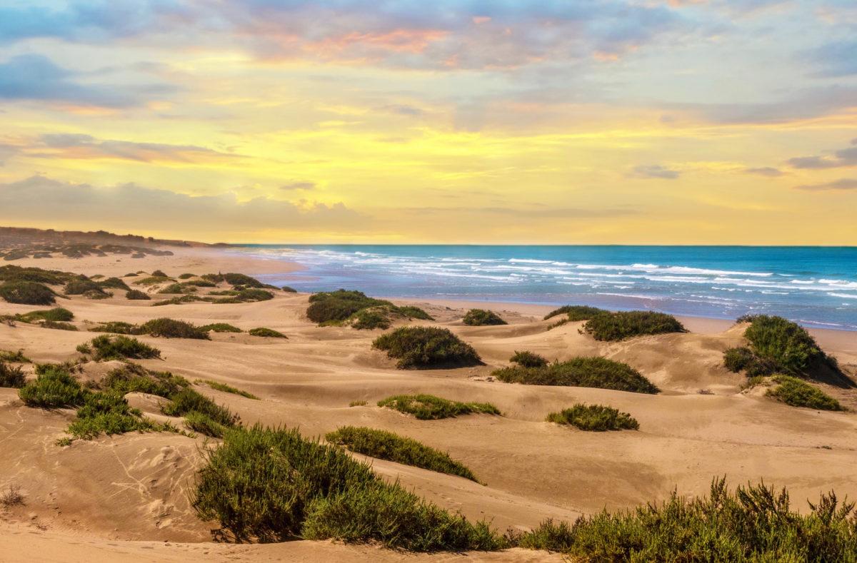 Coucher de soleil à Agadir voyage à vélo Maroc