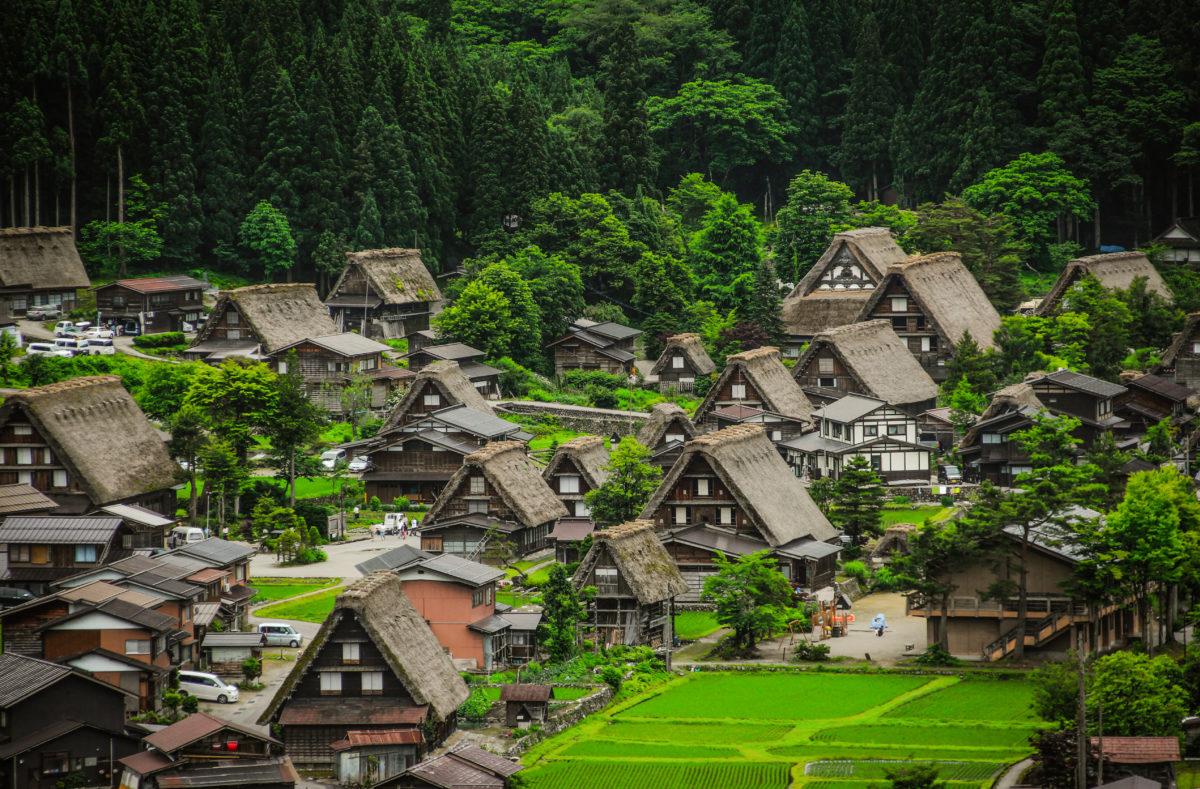 Vieux village de Shirakawa go Japon