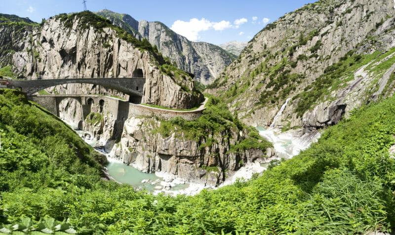 Gorge Schoellenen et le Pont du Diable à Andermatt