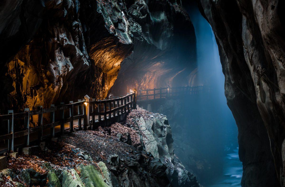 Gorge de Tamina en Suisse orientale