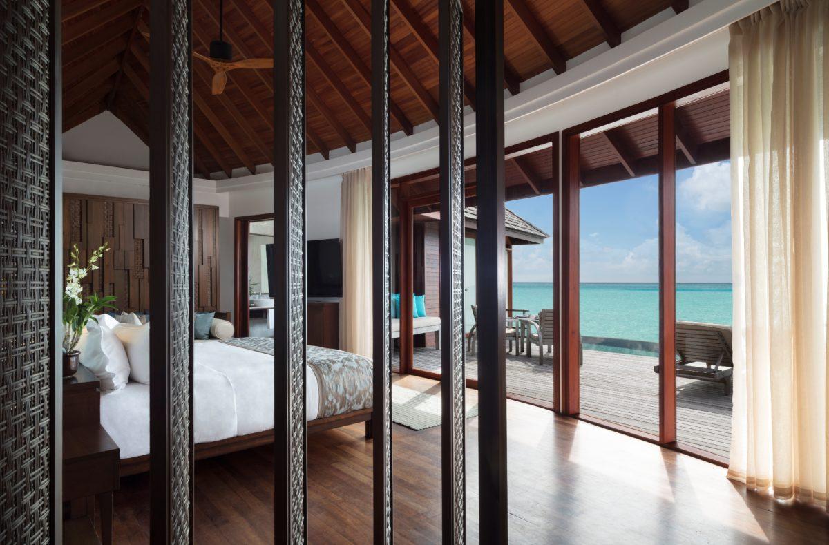 Vue chambre pilotis Anantara Dhigu Maldives Resort