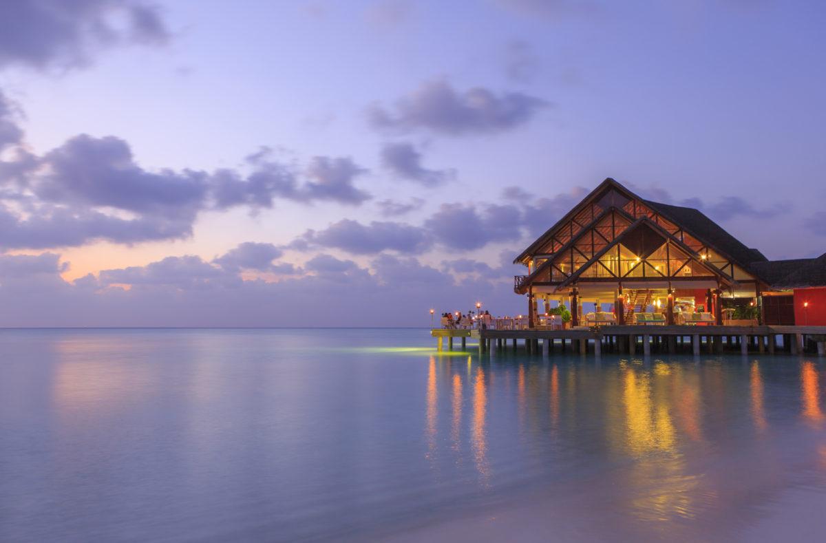 Coucher de soleil Anantara Dhigu Maldives Resort
