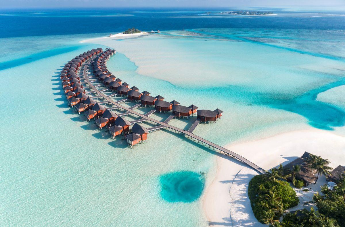 Vue pilotis Anantara Dhigu Maldives Resort