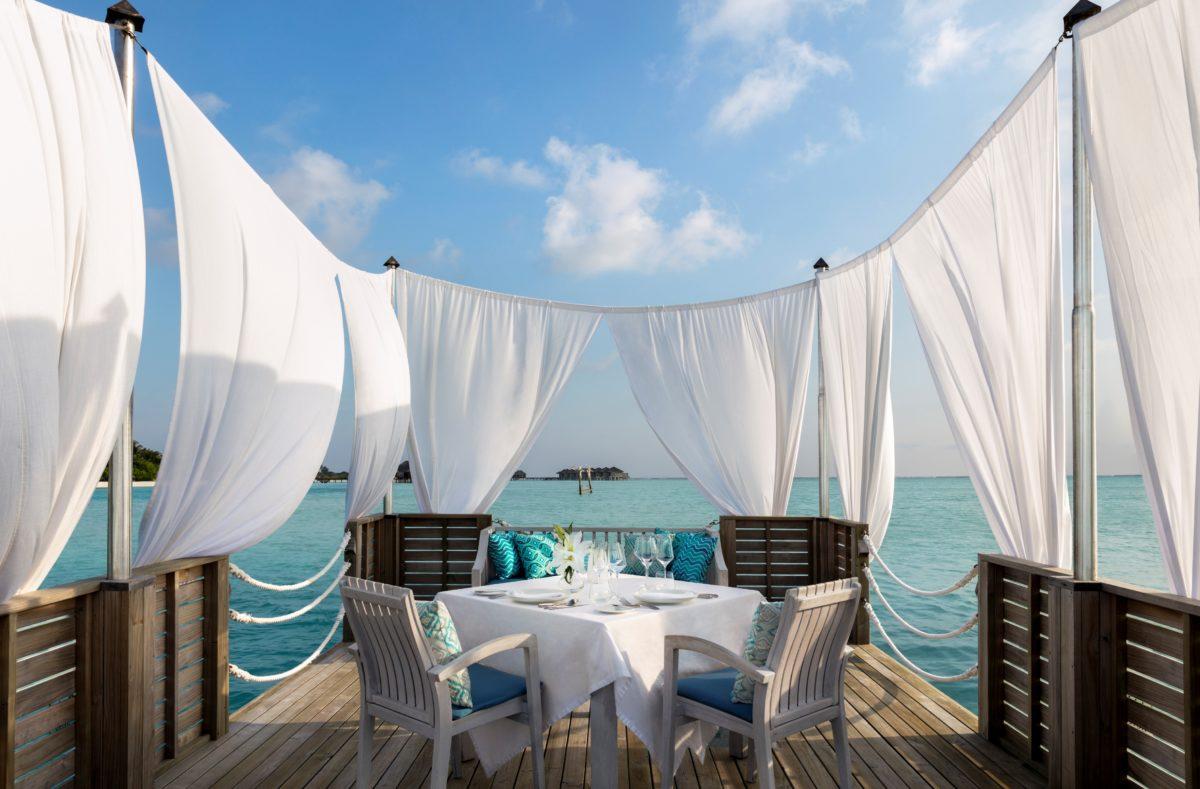 Diner romantique Anantara Dhigu Maldives Resort