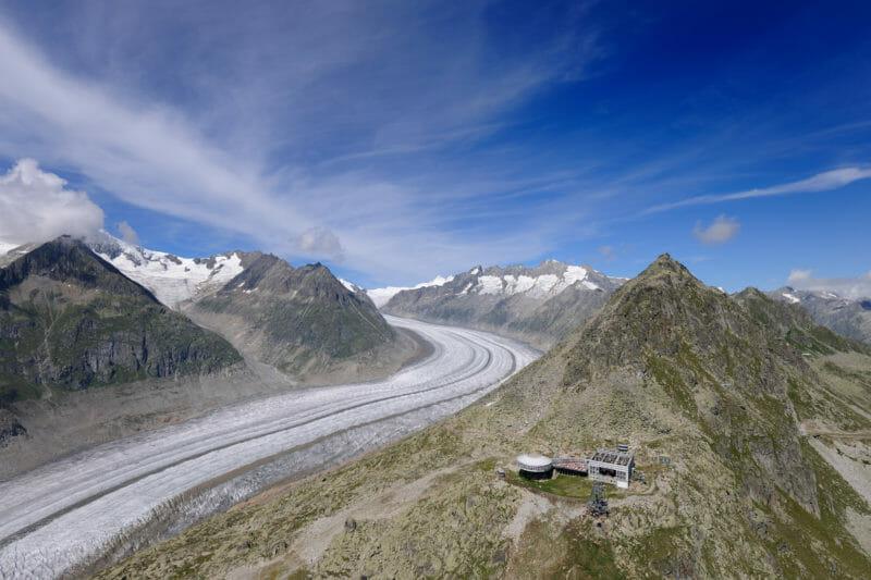 Visiter en groupe le glacier d'Aletsch