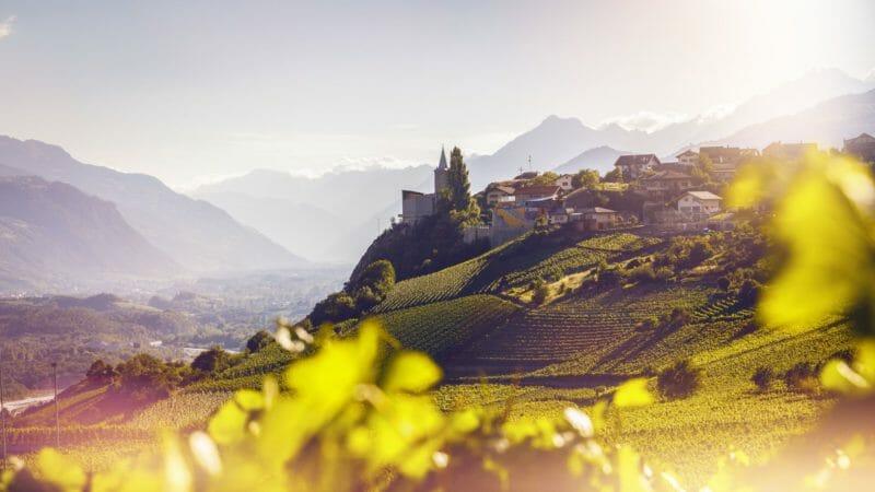 Villiage viticole de Varen Haut-Valais