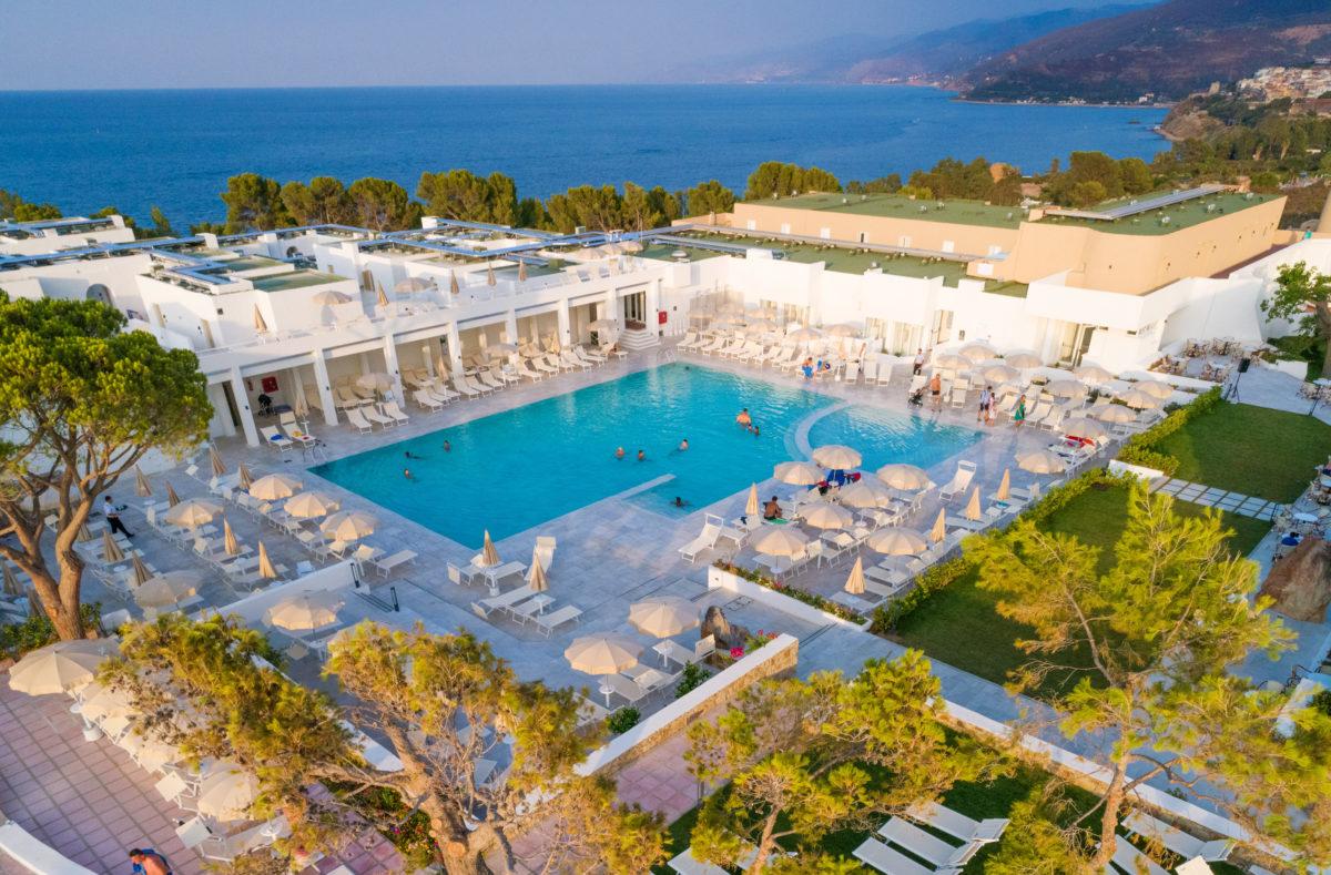 Vue du Pollina Resort Sicile