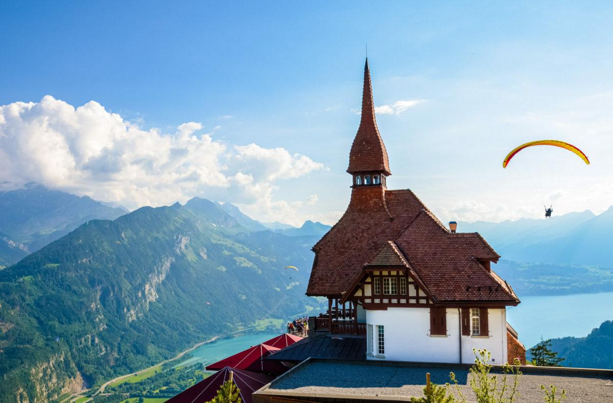 Manger au Harder Kulm en Suisse Centrale