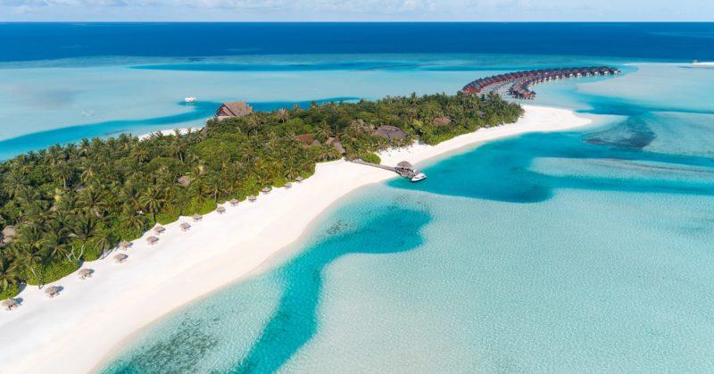 Plage et lagon Anantara Dhigu Maldives Resort