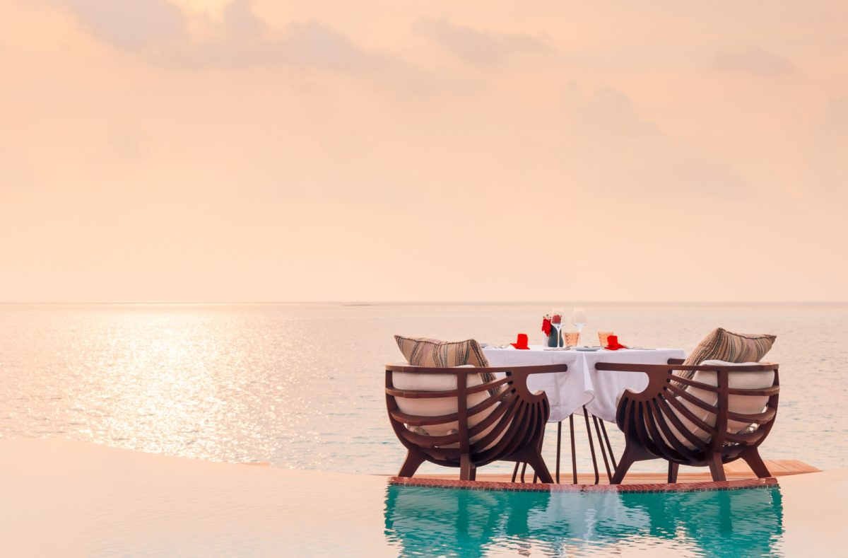 Dîner romantique privé au LUX North Malé Atoll Maldives