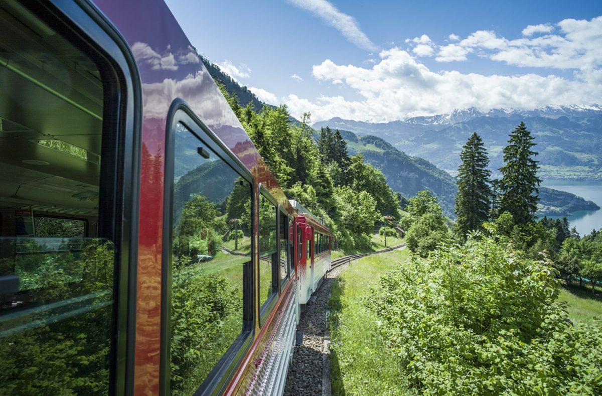 Monter au Rigi en train