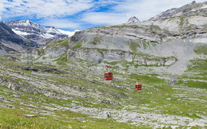 Randonnée alpine en groupe à la Gemmi