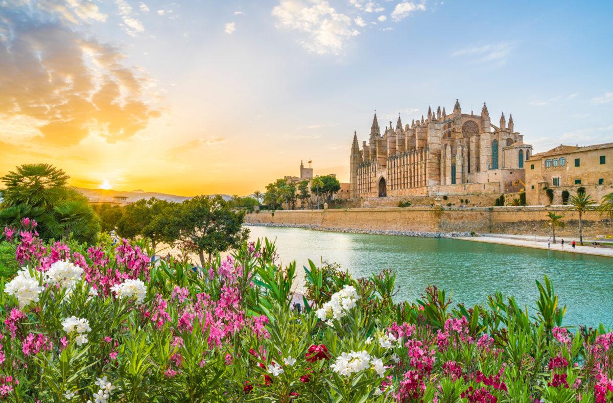Cathédrale La Seu au coucher du soleil, Palma de Majorque