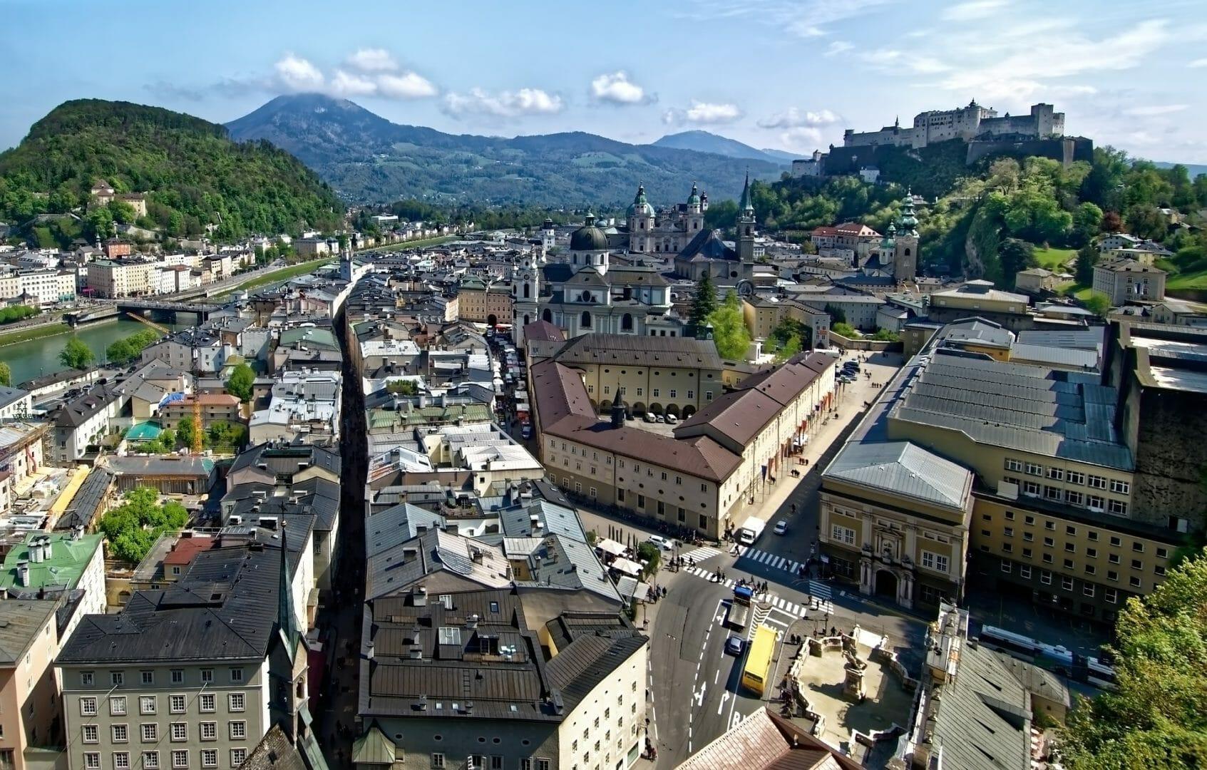 Ville de Salzbourg - Voyager sans avion