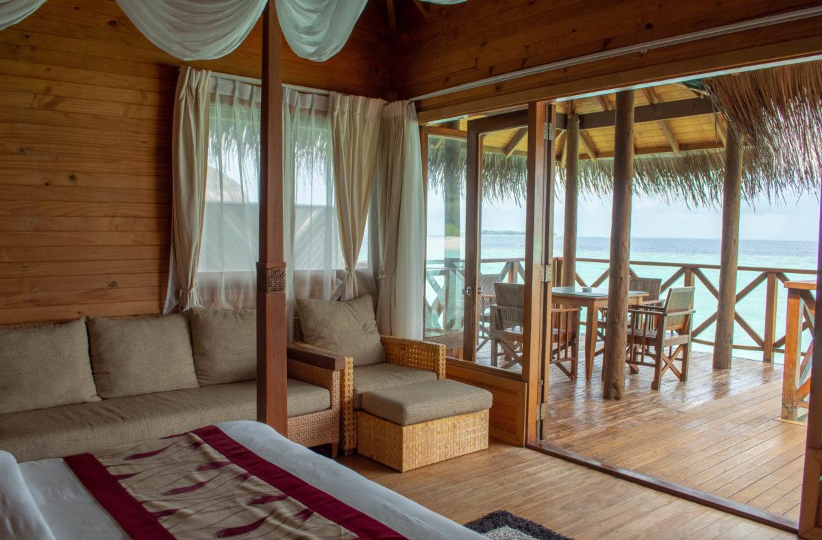 Water villa Fihalhohi Island Resort Maldives