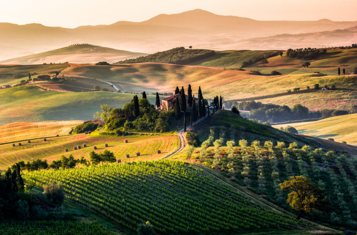 Val d'Orcia, Toscane