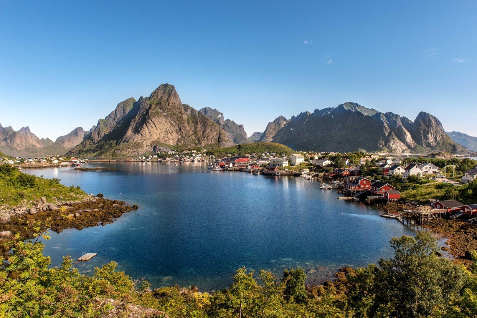 Cyclotourisme dans les Lofoten en Norvège