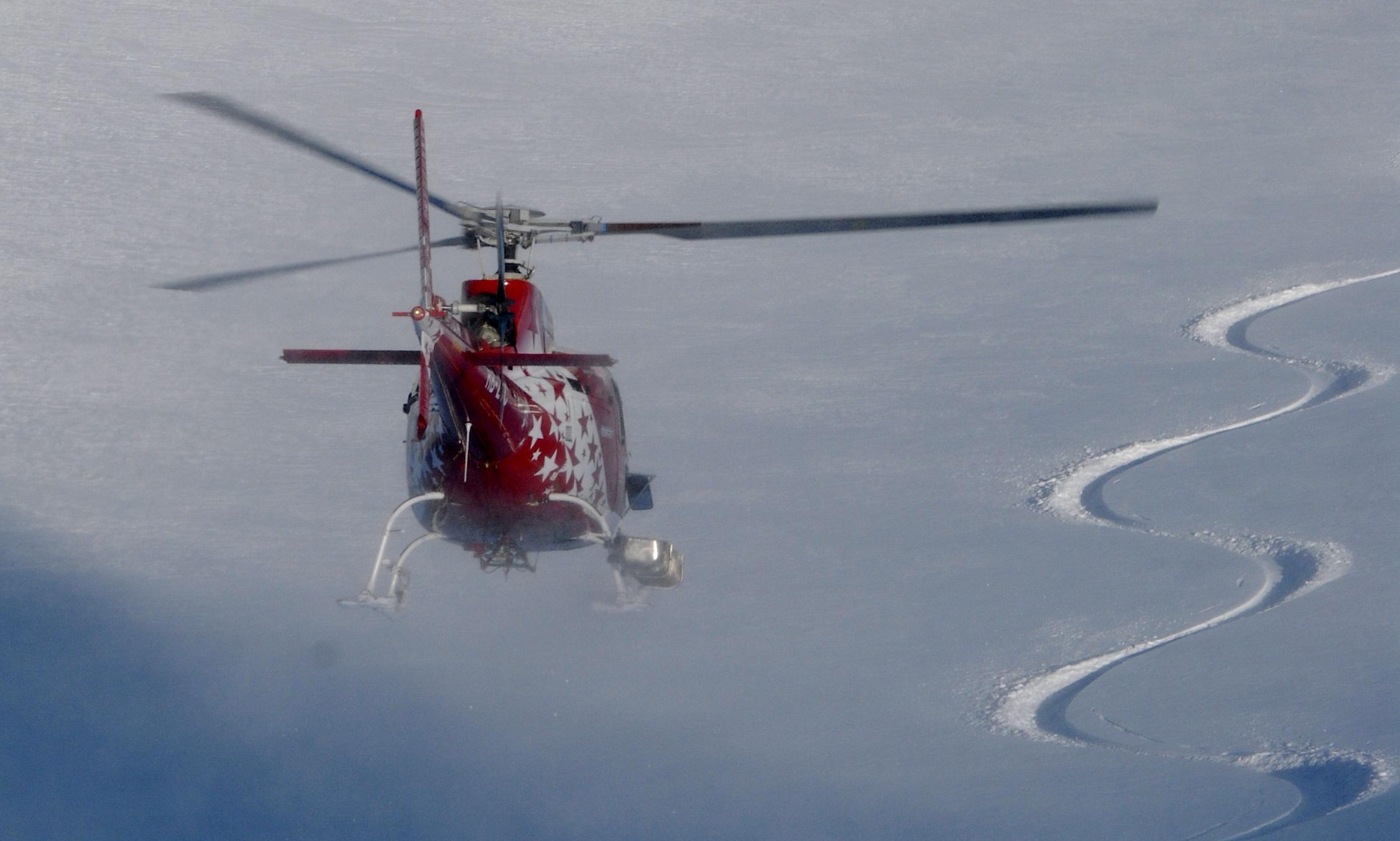 Hélicoptère pour l'Héliski