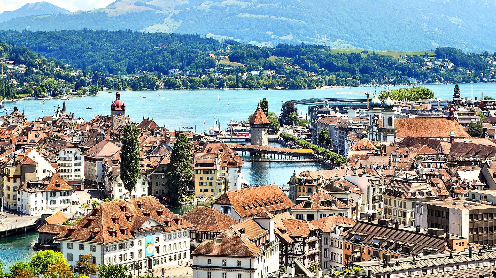 Lucerne carte postale de la Suisse