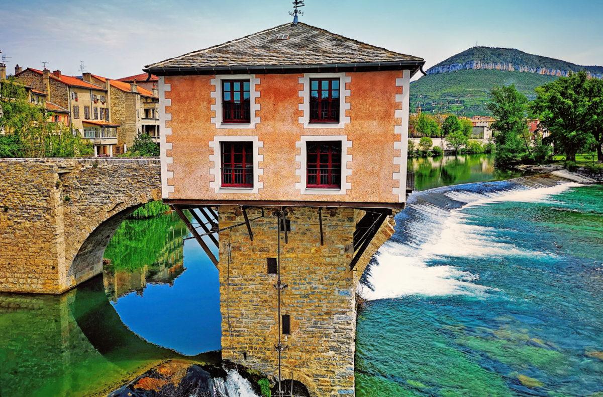 Moulin à eau du Tarn à Millau en France