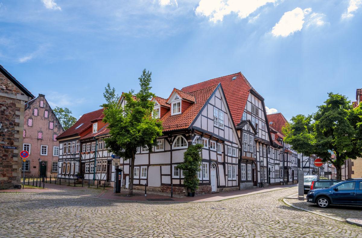 Maisons à colombage à Hameln, Allemagne
