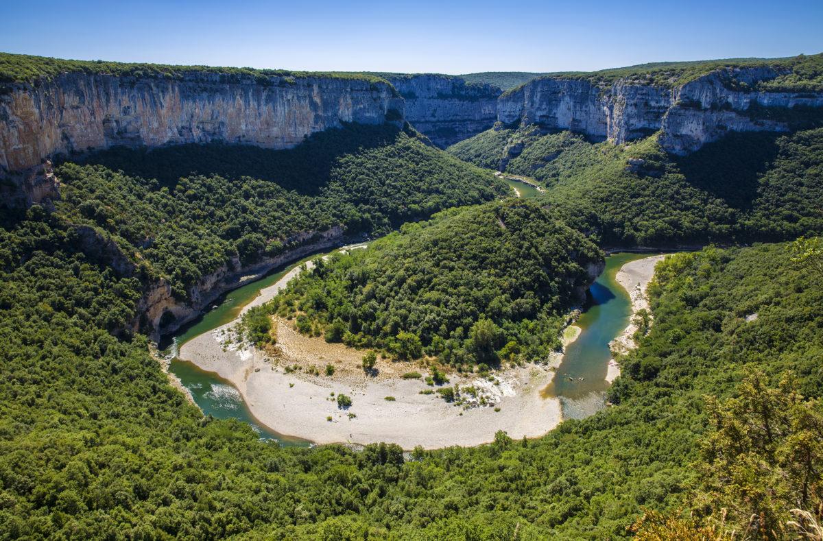 Gorges de l'Ardèche au sud-centre de la France