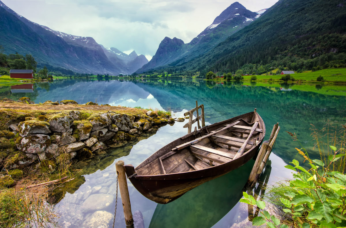Lac Loen en Norvège de l'Ouest
