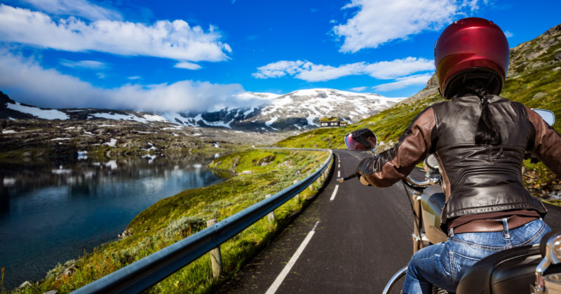 Road trip à moto en Norvège