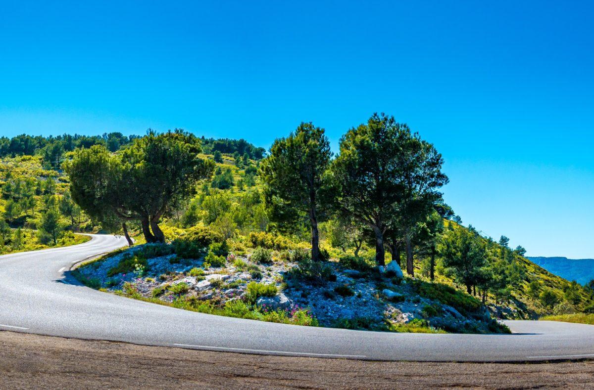 Route des Crêtes en road trip à moto sud de la France