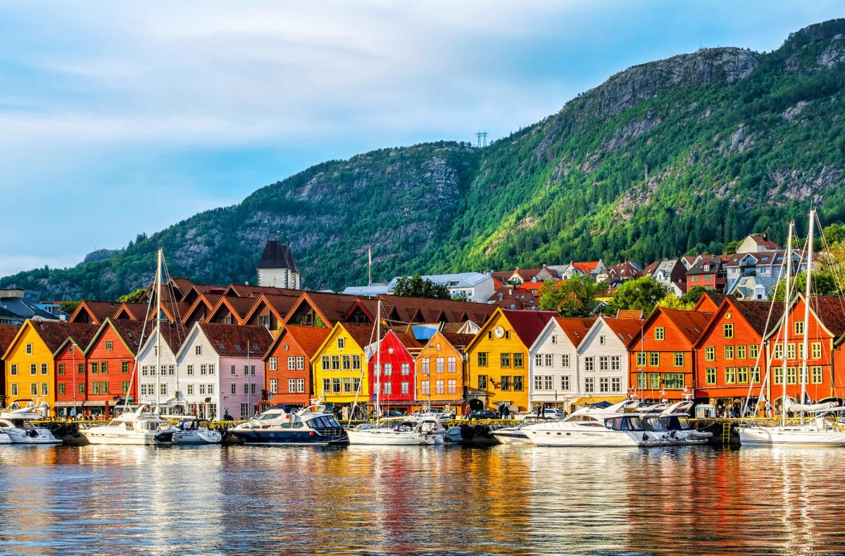 Bergen, Norvège. Bâtiments historiques à Bryggen, site UNESCO