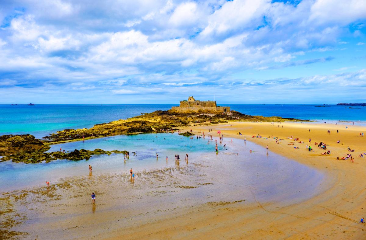 Plage Saint-Malo et Fort National Bretagne