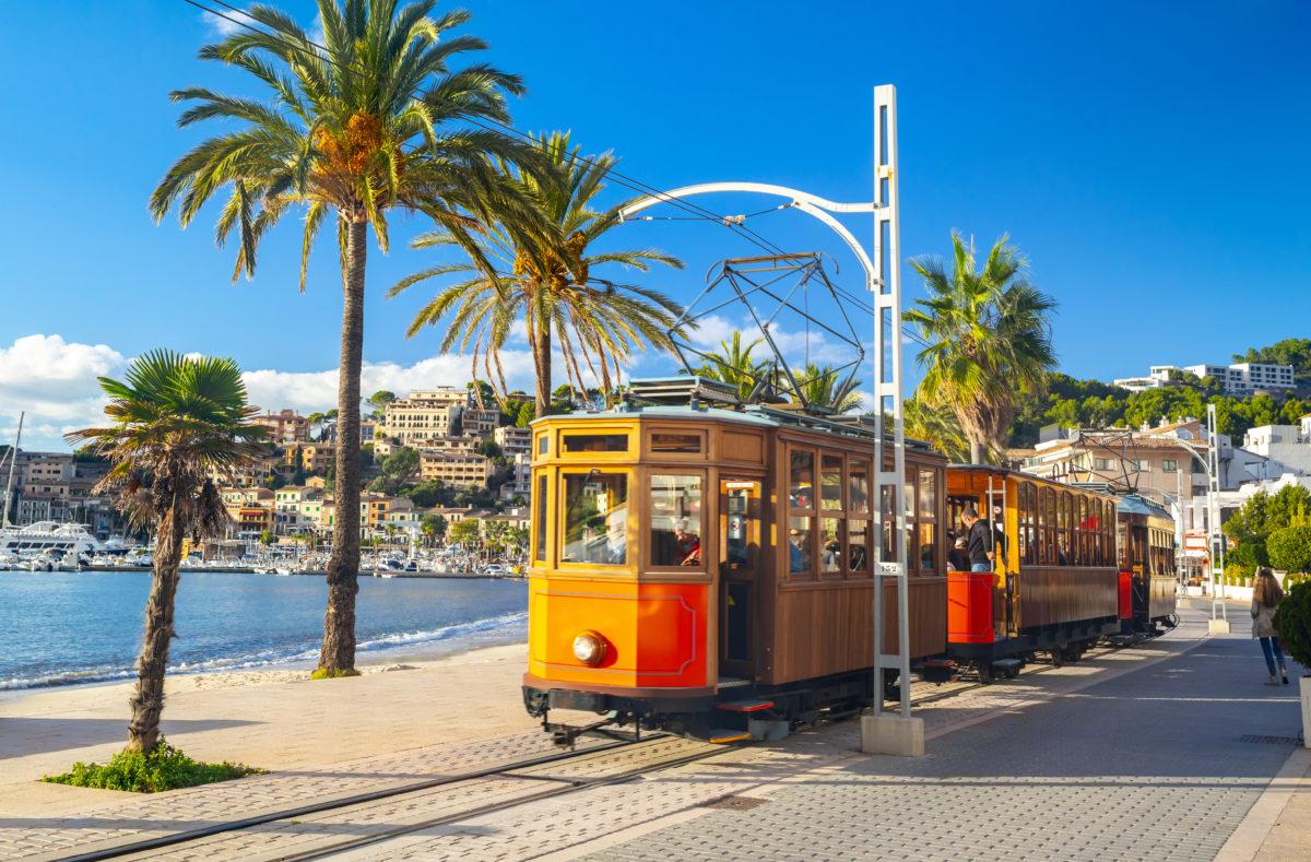 Tramway orange de Soller à Port de Soller, Majorque