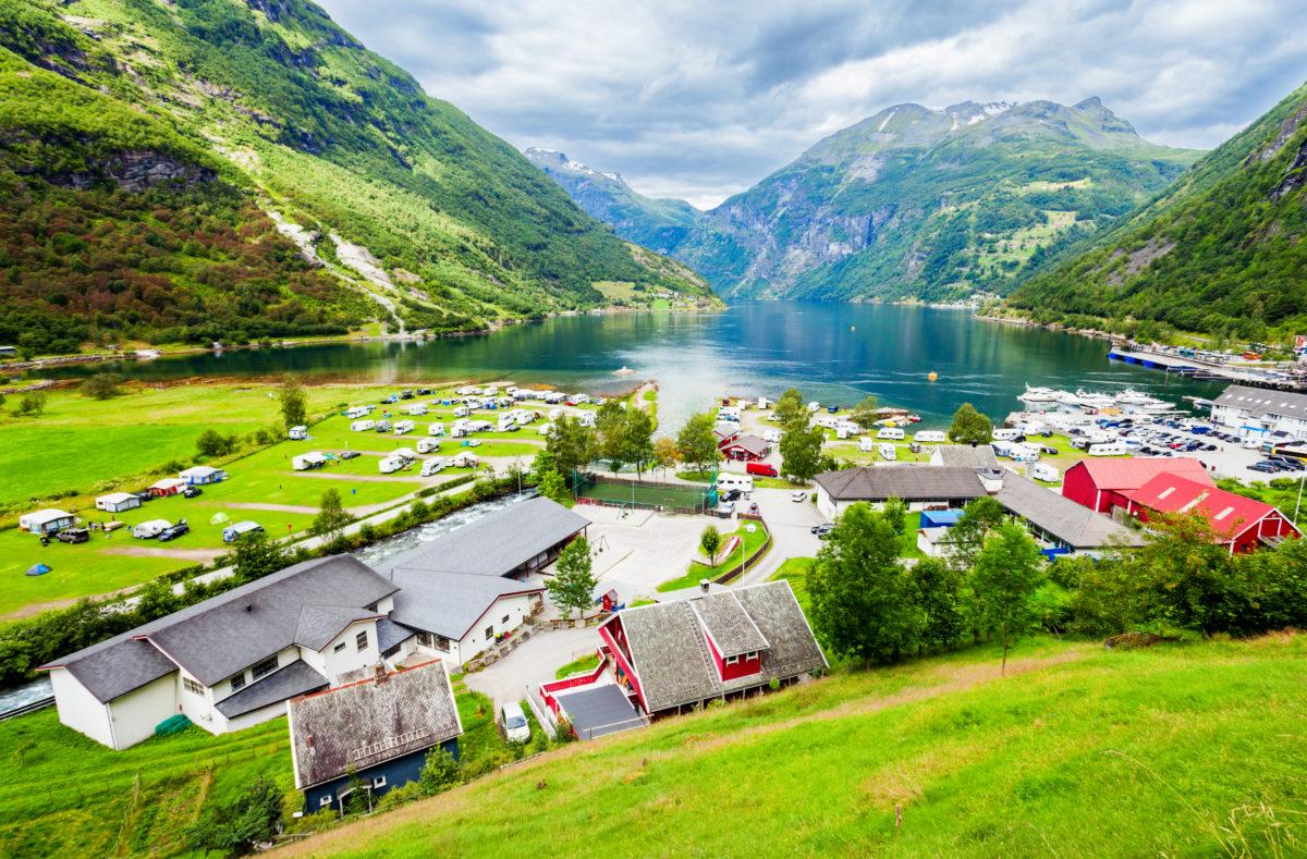 Geiranger région de Sunnmore en Norvège, dans le Geirangerfjord